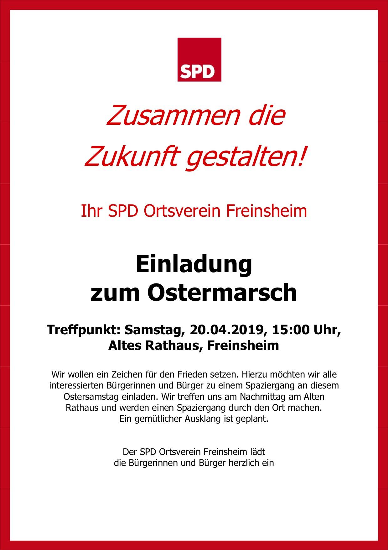 Flyer Ostermarsch